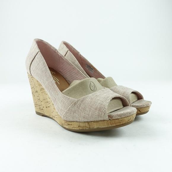 383121ced20 TOMS Women's Stella Peep-Toe Wedges Size 6 R6S7